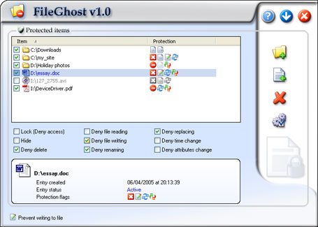 Click to view FileGhost 1.0 screenshot